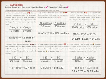 Ratios, Rates and Percents Word Problems 7.4D