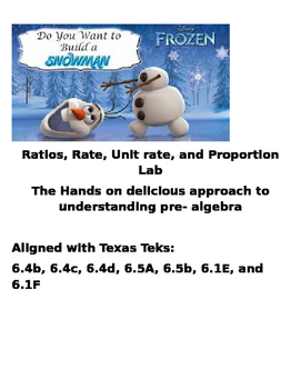 Ratios, Rates, and Proportions