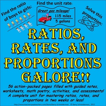 Ratios And Rates Worksheets Teaching Resources | Teachers Pay Teachers