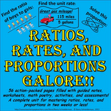 Ratios, Rates, and Proportions Galore