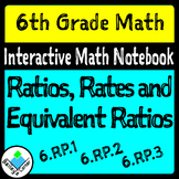 Ratios, Rates, and Equivalent Ratios foldable for Interact