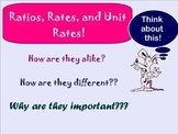 Ratios, Rates, and Unit Rates - Smartboard Lesson