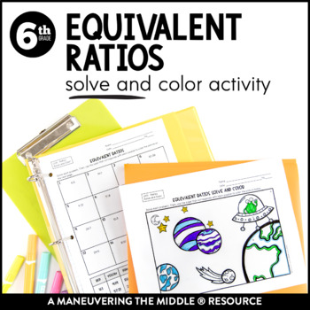 Ratios 6th Grade Solve and Color