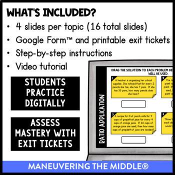 Ratios - Supplemental Digital Math Activities for Google Slides™