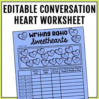 Ratios Sweetheart Valentine's Day Activities