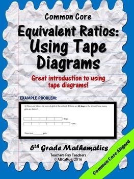 Tape diagram ratios teaching resources teachers pay teachers equivalent ratios tape diagrams equivalent ratios tape diagrams ccuart Images