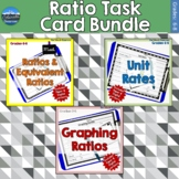 Ratios Task Card Bundle | Digital Versions Included | Dist