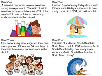 Ratios Task Cards ~ Middle Grades Math