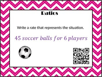 Ratios Task Cards with QR Codes