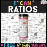6th Grade Ratios and Unit Rate Game   I CAN Math Games