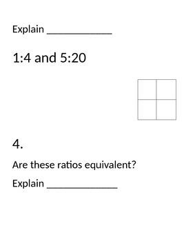 Ratios, Unit Rates, Conversion, (Rotation Activity)