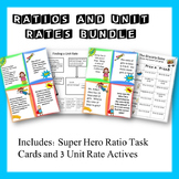 Ratios and Unit Rates: Task Cards and Activities