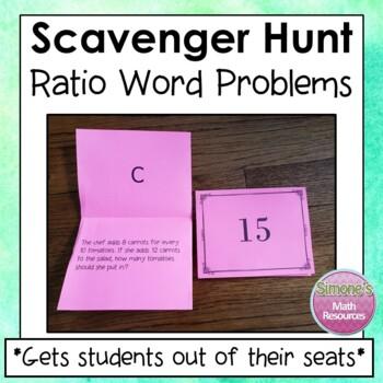 Ratio Word Problems Scavenger Hunt