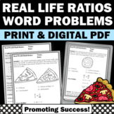 Real World Math Examples, Ratios and Proportions Worksheets 6th 7th Grade