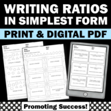 6th Grade Math Ratios and Proportions Worksheets