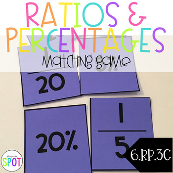 Ratios and Percent Memory Match CCSS 6.RP.3c Aligned