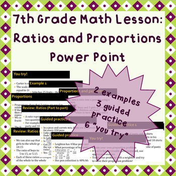 Ratios and Proportional Relationships - A Power Point Lesson