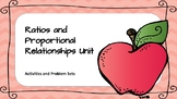 Ratios and Proportional Relationships Activities