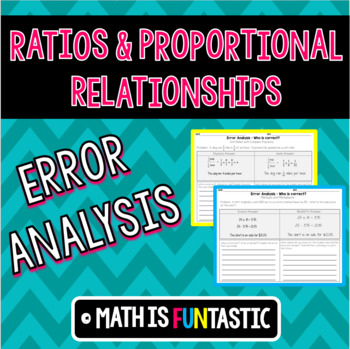 Ratios and Proportional Relationships Error Analysis