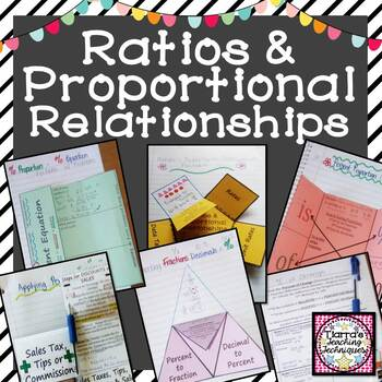 Ratios and Proportional Relationships Foldable Bundle