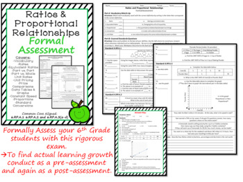 Ratios and Proportional Relationships Formal Assessment