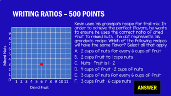 6th Grade Ratios and Proportional Relationships - Game Show Review Game