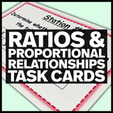 Ratios and Proportional Relationships - Middle School Math Stations #2