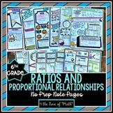 Ratios and Proportional Relationships No Prep Note Bundle