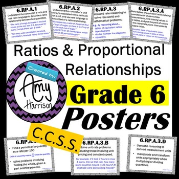 Ratios and Proportional Relationships - Posters for All 6.