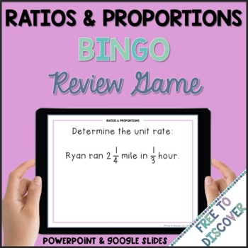 Ratios and Proportional Relationships Review Game (7th Grade)