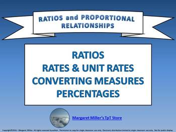 Ratios and Proportional Relationships Review PowerPoint Game - Editable Version