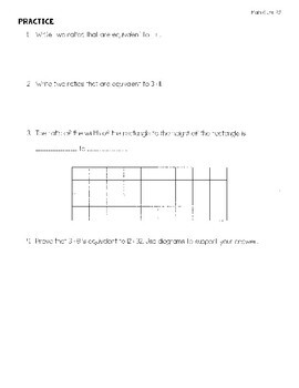 Ratios and Proportional Relationships Unit Notes