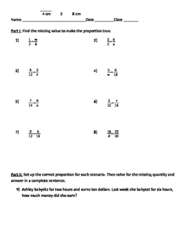 Ratios and Proportions 03 - Solving Proportions without Cross Multiplication