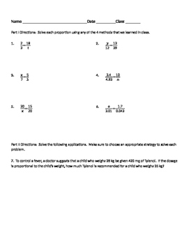 Ratios and Proportions 05 - Writing and Solving Proportions from Applications