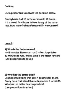 Ratios and Proportions 08 - Finding Unit Rate Using Proportions