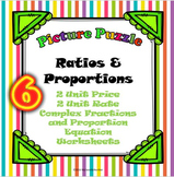 Ratios and Proportions 6 Picture Puzzle Bundle!
