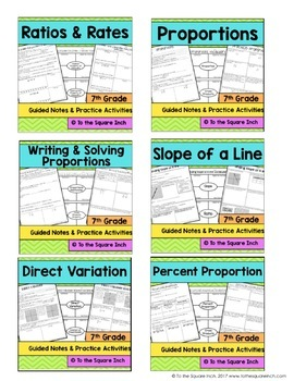 Ratios and Proportions- 7th Grade Math Guided Notes and Activities Bundle