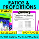 Ratios and Proportions- 7th Grade Math Guided Notes and Ac