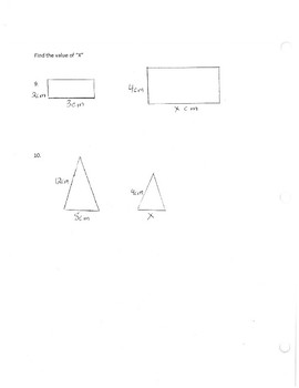 Ratios and Proportions Assessment