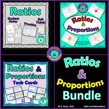 Ratios and Proportions Bundle