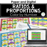 Ratios and Proportions Math Color by Number