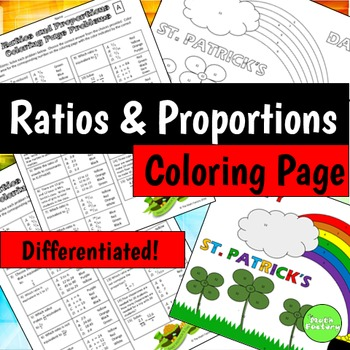 Ratios and Proportions Coloring Page (St. Patrick's Day)