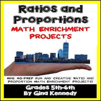 Ratio and Proportions Math Enrichment Projects, Plus Vocabulary