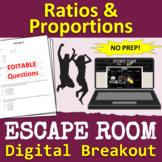 Ratios and Proportions - ESCAPE ROOM - Digital Breakout |