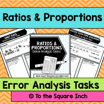Ratios and Proportions Error Analysis