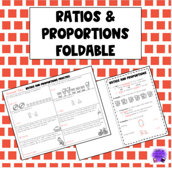 Ratios and Proportions Foldable Notes