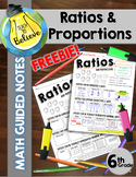 Ratios and Proportions - Math Guided Notes/Interactive Notes