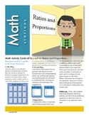 Ratios and Proportions Math Station Activity Cards