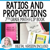 Ratios and Proportions Mini Tabbed Flip Book for 7th Grade Math