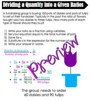 Ratios and Proportions Notes - Editable 5 Pages
